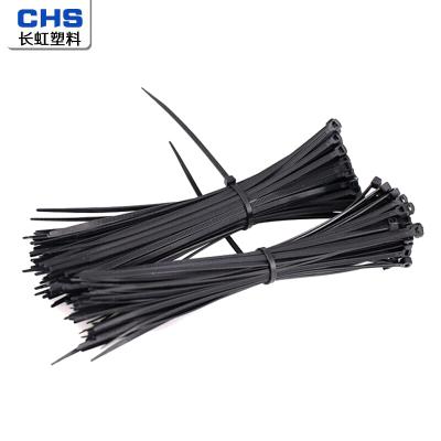CHS 長虹塑料尼龍扎帶束線帶理線帶扎線帶4*250(200根/包)1包 黑色