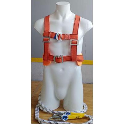 (定制產品,5天內發出)幫客材配 巴頓兄弟空調高空作業安全帶戶外國標安全繩 5米雙小勾