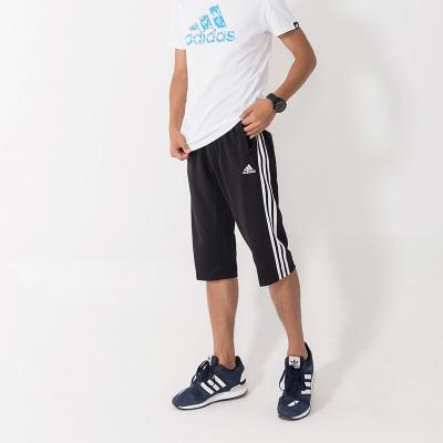 阿迪达斯adidas男装跆拳道短裤夏装七分裤运动透气速干中裤-PN10030MA-7-BW
