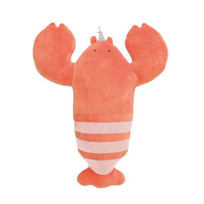 LIVHEART小龙虾抱枕可爱公仔睡觉玩偶水母毛绒玩具布娃娃女生生日礼物送女友创意礼品