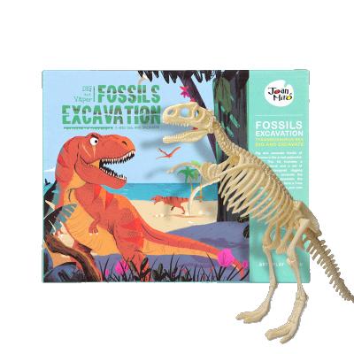 JoanMiro美乐 儿童化石挖掘恐龙考古 霸王龙骨架手工益智DIY化石玩具模型 霸王龙