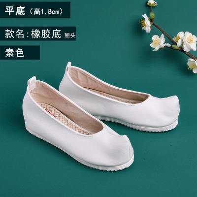 春季古風鞋子女漢服鞋布底布鞋繡花鞋弓鞋翹頭鞋漢服搭配古裝
