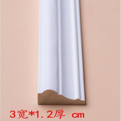 客廳電視背景墻邊框實木線條裝飾木線條白色中式吊頂原木歐式平板 3寬*1.2cm厚