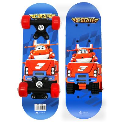 超级飞侠儿童滑板AIR2-3-6岁 宝宝迷你小滑板入门四轮双翘板 活力木质初学者 抖音同款