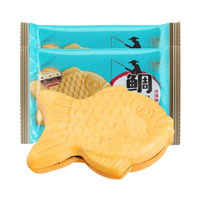 【第二件69】鯛魚燒 網紅冰淇淋 景麗華雪糕夾心冰激凌 香草曲奇/珍珠奶茶 10支裝
