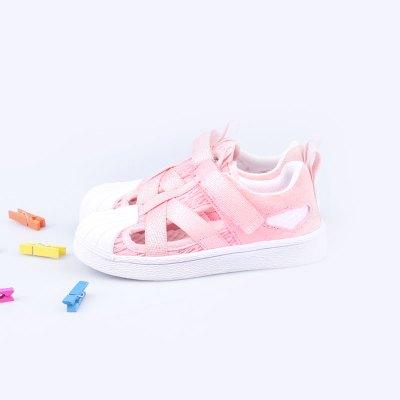 佳親softkids 休閑涼鞋 男女通用 防滑減震透氣時尚個性0-6歲寶寶