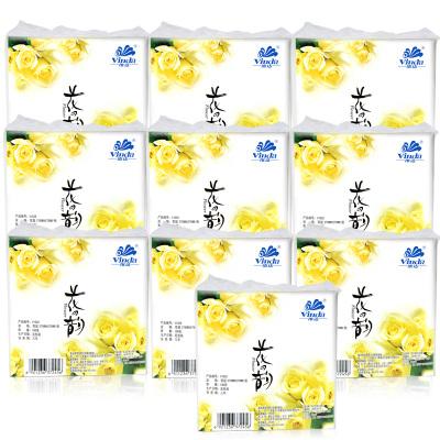 维达(Vinda) 餐巾纸花之韵餐厅酒店商务生活用纸巾方巾擦手纸100张/包*10包抽纸