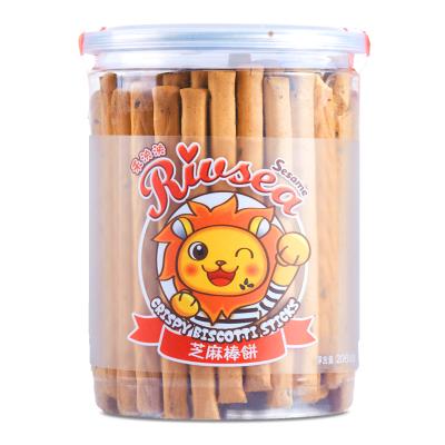 禾泱泱(Rivsea)台湾进口宝宝零食芝麻棒饼206g儿童辅食磨牙饼干