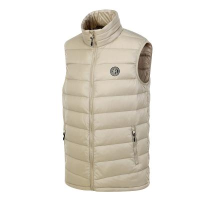 國際米蘭俱樂部Inter Milan官方新品戶外羽絨服運動跑步健身馬甲男女短款輕薄防風保暖立領背心外套