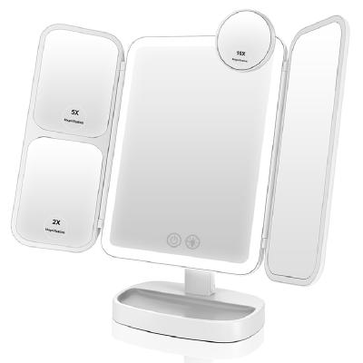 easehold貝殼鏡二代化妝鏡補光便攜帶led燈臺式梳妝鏡折疊日光美妝鏡