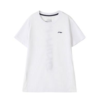 李寧童裝夏裝新款男大童短袖T恤7-12歲圓領針織夏季兒童運動套裝