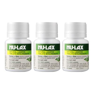 3件裝   NuLax蘆薈樂康片40粒/瓶裝