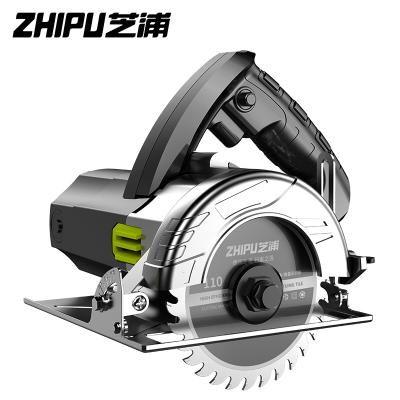 芝浦(ZHIPU)切割機家用小型大功率多功能手提瓷磚石材金屬木材開槽云石機電鋸 工業開槽款4280AW多鋸片