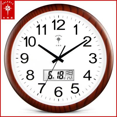 北極星(POLARIS)石英鐘鐘表掛鐘客廳家用精工機芯個性創意掛表靜音新中式簡約時尚藝術輕奢時鐘臥室用裝飾中國風大氣壁鐘