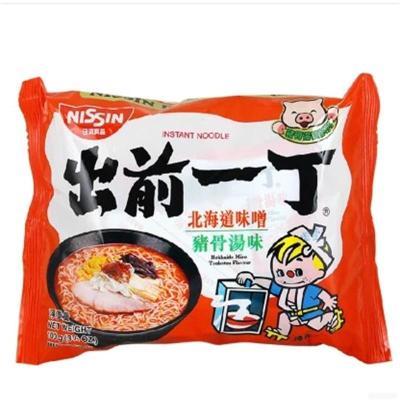 香港進口泡面小食堂出前一丁北海道味噌豬骨湯味速食拉面100g