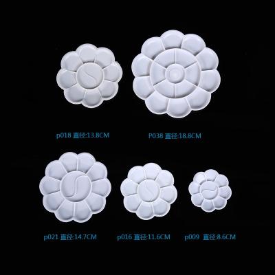 工程塑料调色盘水彩画胶画沙画 梅花调色盘10格