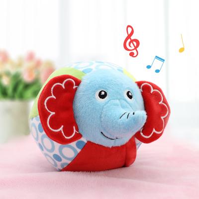 費雪(Fisher-Price) 大象毛絨玩具音樂蹦蹦球 布球嬰幼兒啟蒙動物球會唱歌會學舌會蹦跳能充電0-3歲F0858
