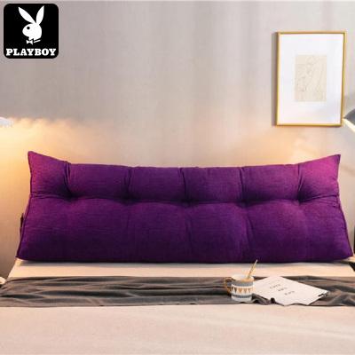 花花公子(PLAYBOY)可拆洗床頭靠墊大靠背榻榻米沙發靠枕護腰枕三角靠墊飄窗抱枕軟包