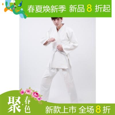 比赛训练柔道服 男女道服西柔术服 儿童白色蓝色加厚灯芯棉
