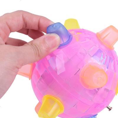 電動音樂跳跳球會發光唱歌震動跳舞球音樂玩具足球彈力球兒童玩具