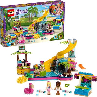 LEGO樂高 Friends好朋友系列 安德里亞的泳池派對41374 積木玩具