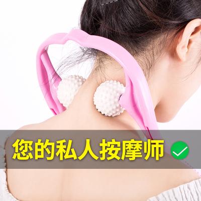 手持颈部按摩器夹脖子小神器颈椎按摩器手动肩颈疏通仪小腿按摩