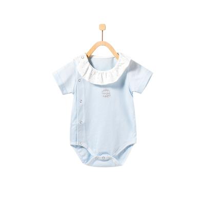 童泰TONGTAI嬰幼兒內衣純棉偏開包屁衣1-18個月女寶寶娃娃領連體衣爬服80cm