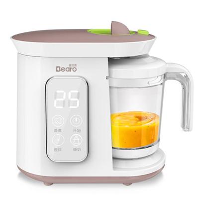 倍爾樂輔食機蒸煮攪拌一體機多功能全自動嬰兒料理機寶寶輔食研磨器PP材料多功能輔食料理機 可熱食 可暖奶 可攪拌300ML