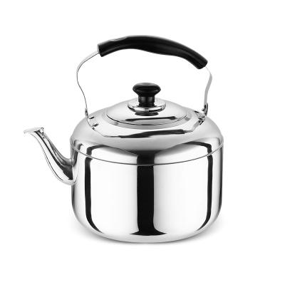 加厚不銹鋼燒水壺家用燒煤氣燒水壺大容量鳴笛天燃氣電磁爐茶壺-6L加厚款(家用推薦)