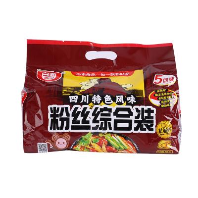白家陈记(baijia) 综合装方便粉丝五包装541g 方便粉丝 网红5种口味混合装 非油炸速食 厨房调料 特产 旅游