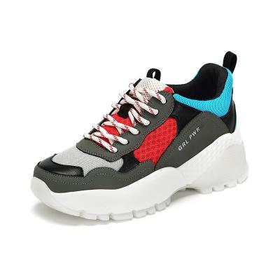 达芙妮新款ins老爹鞋厚底系带防滑休闲运动鞋