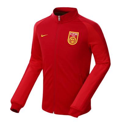 耐克 中国国家足球队 N98 男针织运动夹克常规型 812717-687红色