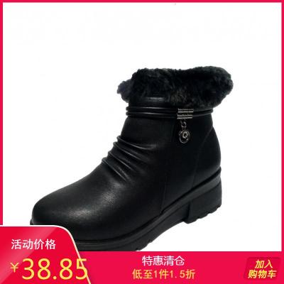 SHOEBOX/鞋柜女靴 冬休閑雪地靴加厚保暖百搭舒適女短靴