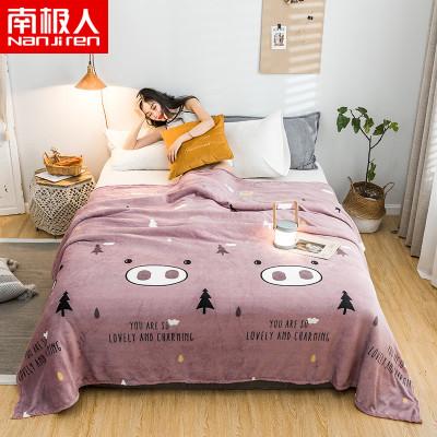 南极人(NanJiren)家纺 法莱绒毛毯绒毯子 床上用品法兰绒床单毯空调毯秋冬保暖盖毯午睡毯