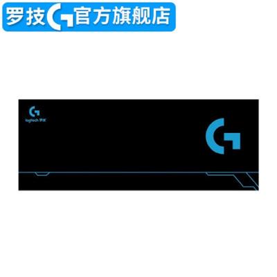 促销中 罗技(G) 游戏鼠标垫加大桌垫 定制版鼠标垫 加厚桌垫 超大号锁边鼠标垫 新款黑色