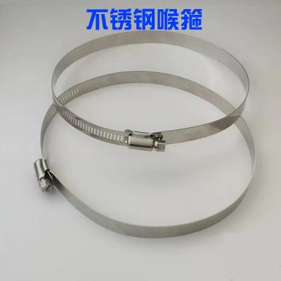 特大201不锈钢喉箍美式全钢喉箍通信卡箍电线杆全孔抱箍监控卡箍 直径350mm-400mm