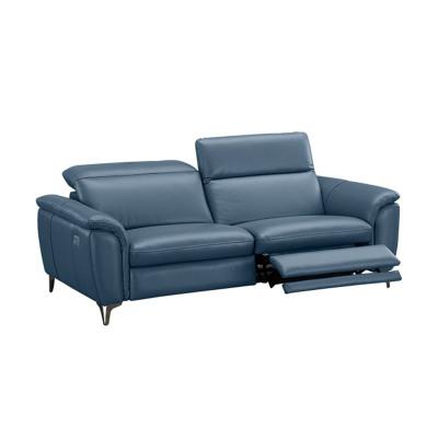 科智乐智能欧式真牛皮沙发组合NANA-U 玄蓝 二人位