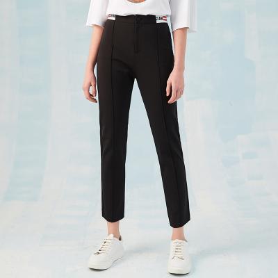 【2件2.5折價:84.8】ME&CITY女裝春季新款西褲版型鉛筆褲休閑褲
