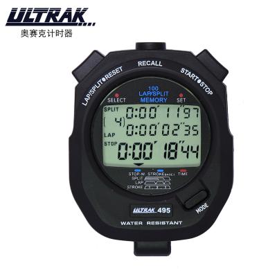 -奥赛克ULTRAK秒表DT495计时器 三排100道计时器 田径运动计时器 防水倒计时记忆
