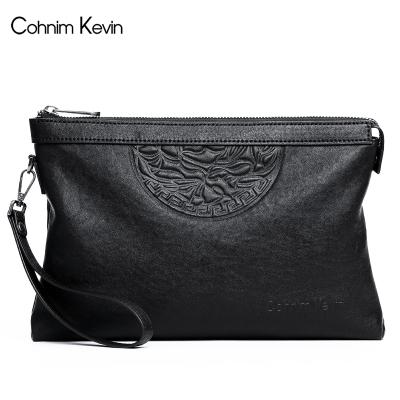 Cohnim Kevin男士手包時尚新款手拿包休閑信封包正品羊皮手抓包大容量韓版新品送禮2020