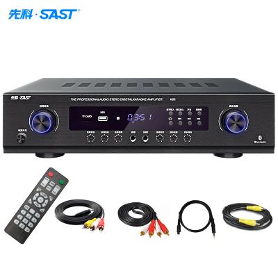 先科(SAST) K-60 功放機家用2.0聲道專業大功率重低音家庭影院內置藍牙卡拉OK消原音KTV音響AV數字功放