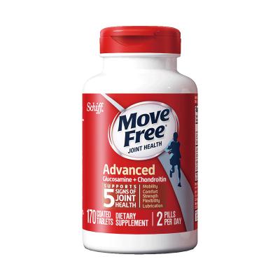 【袁姍姍同款】【日常保養】Schiff 旭福 Movefree 維骨力氨糖軟骨素鈣片 牡蠣 貝類提取物 紅瓶170粒/瓶