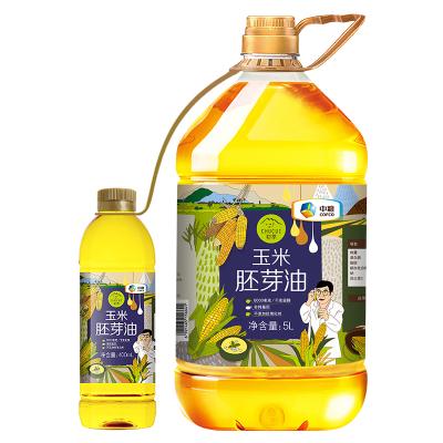中粮 初萃玉米胚芽油5L+400ml 物理压榨 一级桶装玉米油 非转基因 食用油粮油