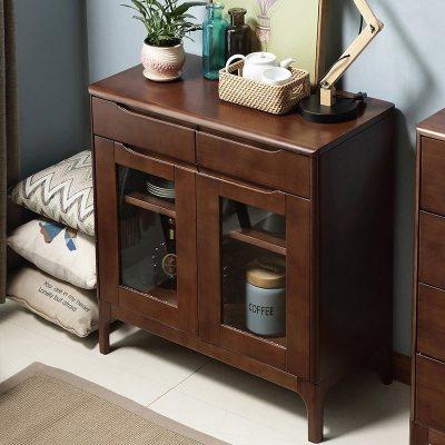 達跶家 餐邊柜 北歐實木儲物柜置物柜日式廚房收納柜碗柜茶水柜玄關柜現代簡約