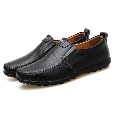 墨爾斯特(MO ER SI TE)男鞋秋季2019新款韓版豆豆鞋男真皮休閑皮鞋透氣軟底懶人鞋子7607