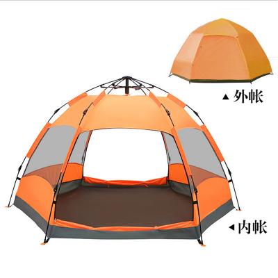 探險者TANXIANZHE 帳篷戶外 3-4人5-8人全自動加厚雙層六角沙灘速開帳篷 家用遮陽防雨野外露營帳篷登山帳篷