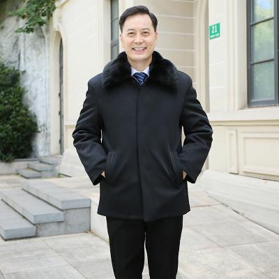冬款中老年男爸爸裝棉襖40-50歲男士加厚連帽防風袖羽絨棉棉衣
