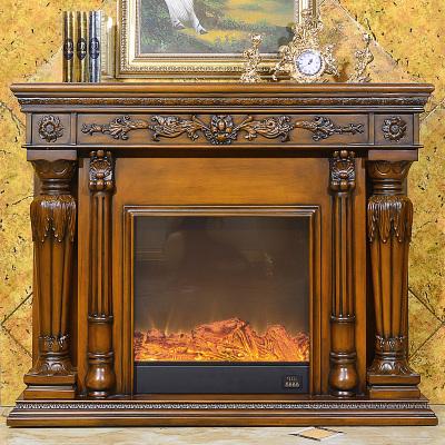 帝軒名典1.5米裝飾柜壁爐 歐式美式實木壁爐架裝飾 羅馬柱壁爐