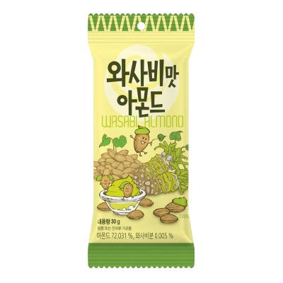 【辛辣芥末味】汤姆农?。═om's Farm)芥末味扁桃仁 30g/袋 坚果 巴旦木办公室零食 休闲零食 韩国进口