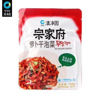 清凈園宗家府蘿卜干蘿卜條泡菜100g*5 辣白菜咸菜方便面伴侶下飯菜配飯菜